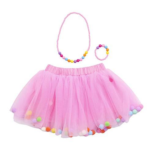 Xmiral tutu vestito ragazze bambine ballerina costume danza di prestazioni quattro strati gonna capelli balletto gonna + vestito + braccialetto tre pezzi altezzat:60-100cm rosa