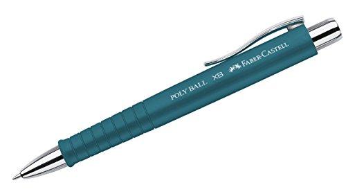 Papier K Und Unternehmen (Faber-Castell A.W. 241155 - Kugelschreiber Poly Ball XB, Strichstärke 0.5 mm, petrol)
