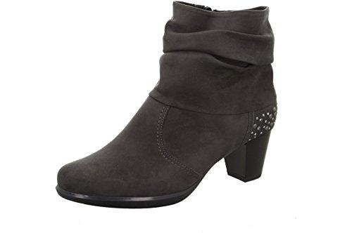 Jenny signore Boot 22-68650-75 grigio, taglia 37-41, comma 4,5 cm, Niki alimentare Velourslederimitat grau