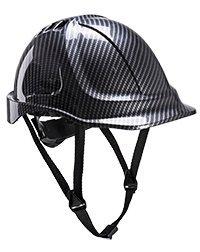 Preisvergleich Produktbild Portwest Premium Endurance Carbon Look Arbeitsschutzhelm - EN 397 - Helm für Führungskräfte, Architekten, Bauleiter, Ingenieure