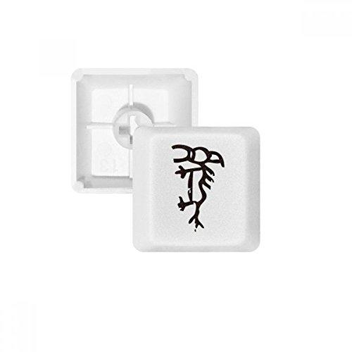 DIYthinker Knochen Inschriften Chinesisches Sternzeichen Pferd PBT Keycaps für Mechanische Tastatur Weiß OEM Keine Markierung Drucken R4