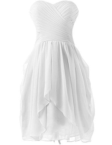 HUINI Hochzeitskleid Damen Chiffon Brautjungfernkleid Kurz Partykleid Ballkleid Abendkleid...