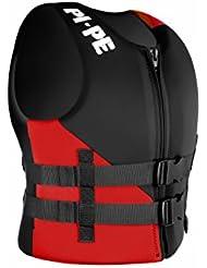 PI-PE Schwimmweste 2 Buckels - Chaleco salvavidas para barcos, color rojo, talla única