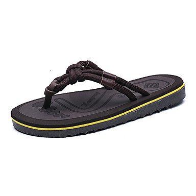 Uomo Athletic Shoes Primavera Estate Autunno Inverno Comfort PU casual Tallone piano Lace-up Nero / Whit sandali US10 / EU43 / UK9 / CN44