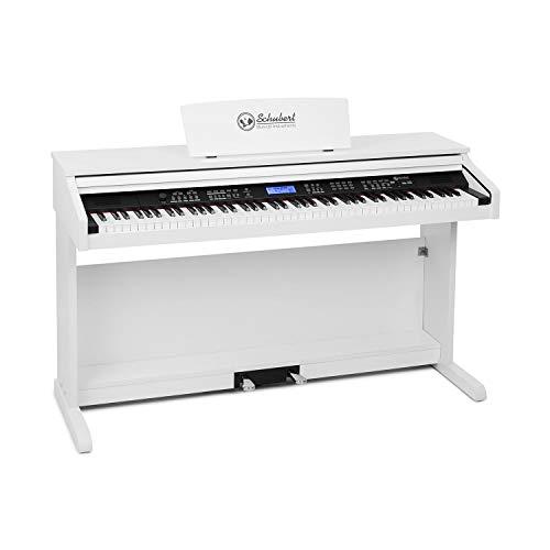 Schubert Subi 88 MK II tragbares Keyboard • Tasten-Keyboard • Digital-Piano • 88 Tasten • MIDI • USB • 360 Klänge • 160 Rhythmen • 80 Demosongs • LCD-Display • Effekte • Aufnahmefunktion • weiß