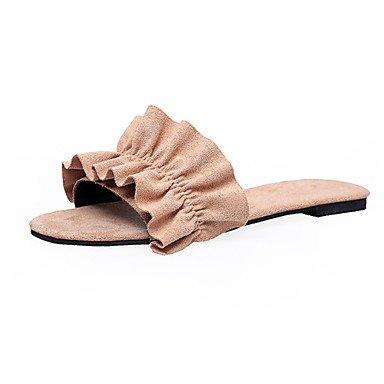 zhENfu donna pantofole & amp; flip-flops sandali Slingback Felpa casual estivo Passeggiate Split basso comune HeelBlue arrossendo rosa Light Yellow