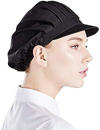 Nanxson 3 Stück Kochmütze einfarbig elastiche Staubmütze Arbeitsmütze Kopfbedeckung Arbeitshut CF9035