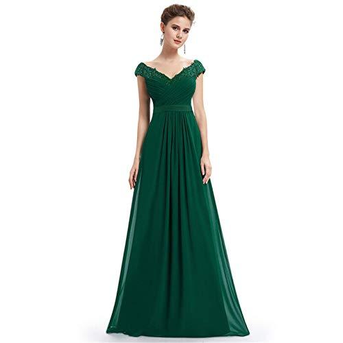 MOOPYS& Women Long Bridesmaid Dress Cap Sleeve Evening Formal Dresses Homecoming Dress Green 4 Jovani Homecoming