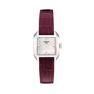 Tissot  T02.1.365.71 – Reloj de cuarzo para mujer, con correa de cuero, color rojo