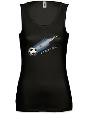 Urban Backwoods Argentina Football Comet Mujer Camiseta Sin Mangas Tank Top Sizes S - XL