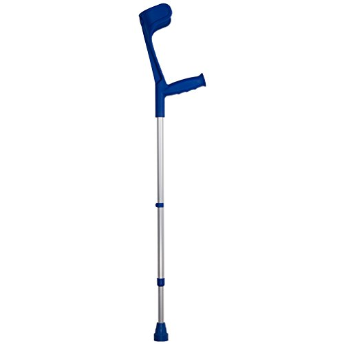 Unterarm-Gehstütze blau, 1 Paar - Krücken Gehhilfe Unterarmkrücke Unterarmstütze (Unterarm-gehstützen Paar)