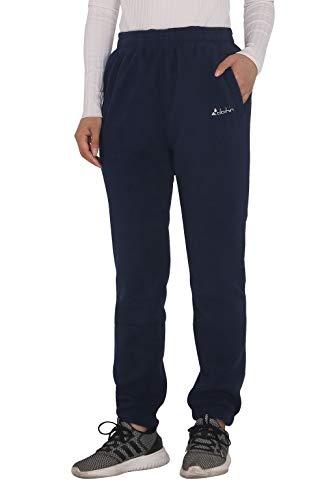 Clothin Herren/Damen Thermo-Pullover, Polar-Fleece, Sweatpants, Damen, Elastic-Cuff Women Navy, X-Large -