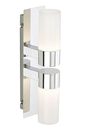 briloner leuchten led badezimmerlampe wandleuchte badlampe badleuchte badezimmerleuchte led. Black Bedroom Furniture Sets. Home Design Ideas