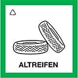 Aufkleber Wertstoffkennzeichnung ALTREIFEN 30x30cm