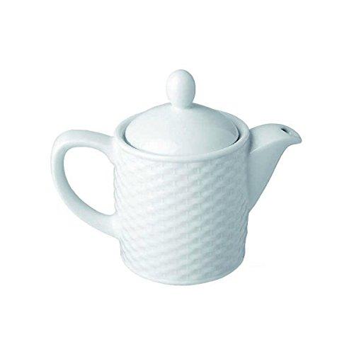 Visiodirect Théière Blanche en Porcelaine 42cl - 16 x 13 cm