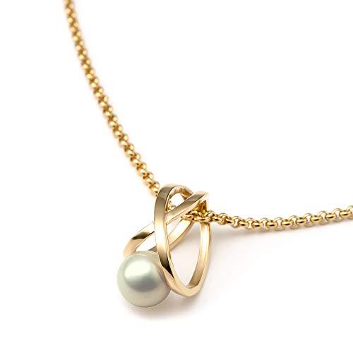 Heideman Halskette Damen Facilis aus Edelstahl Silber farbend poliert Kette für Frauen mit Swarovski Weiss Perlenkette mit Anhänger Brautschmuck Grey Gr. ha23671-7-21-45