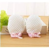 Wiwi.f Baumwolle Eis Seide Baby Anti-Grab-Handschuhe Kordelzug Einstellbar Anti-Kratz Gesicht Neugeborenen Baby Handschuhe 1 Paar