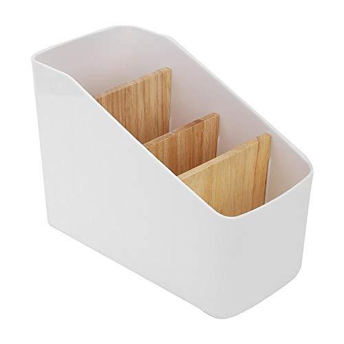 Bewinner Fernbedienung Aufbewahrungsbox Kunststoff Multifunktions Desktop Storage Inhaber Organizer Box Vier Raster für Wohnzimmer Büro