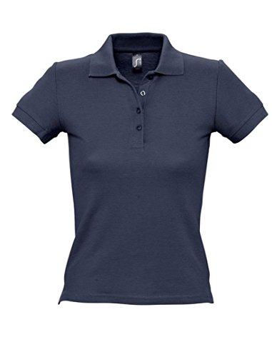 SOLS femmes personnes Polo à manches courtes Tissu piqué Bleu - Bleu marine