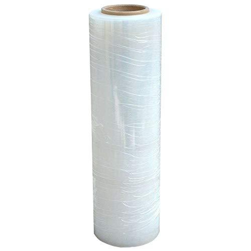 Stretchfolie, industrielle Stärke, 45,7 x 1500 m, 80 Gauge, extra dick (20 Mikron), transparente Kunststoffpaletten für Umzugsverpackungen 18'' X 1500FT 80 Gauge (1Roll)