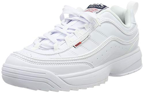 British Knights Damen IVY Sneaker, Weiß (White/Navy/Red 01), 38 EU