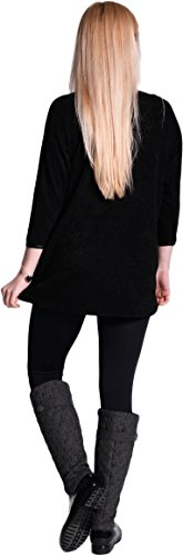 Mija – Pull de maternité a coutures Tunique 3034 Noir