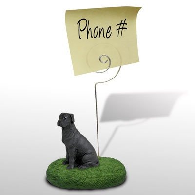 Great Dane Black w/Uncropped Ears Memo Holder