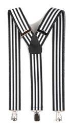 Hosenträger Y Form: schwarz weiß gestreift