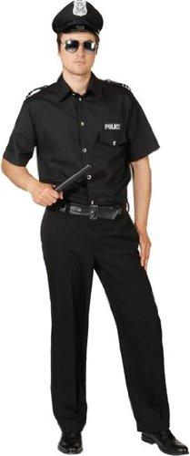 Preisvergleich Produktbild Police Man schwarz : Hemd und Hose,  Erwachsenen-Größe:46 / 48