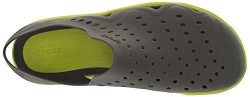 Crocs - Swiftwater Wave, Scarpe Brogue Uomo Grigio (Graphite/Volt/Green)
