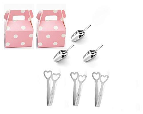 Marry & You 6er Set Candy Bar Zangen Schaufeln Eiswürfelzangen Eisschaufeln zum Schaufeln für Buffet, Bar, Hochzeit