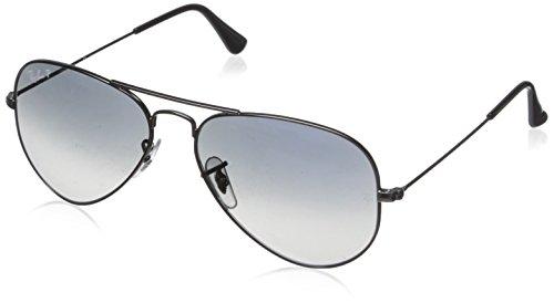 Ray Ban Unisex Sonnenbrille Aviator, Gr. Large (Herstellergröße: 55), Grau (gunmetal 004/78)