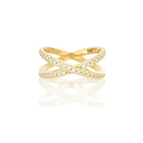 JULES & GENTS Damenring #tinybow Gold