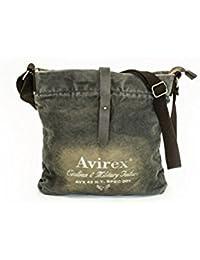 Avirex 140506 - borsa a tracolla unisex 1 scomparto verde militare cod. f 6633f4e58fc