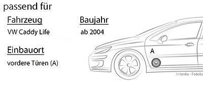 VW Caddy 2K Life Front - Lautsprecher Boxen Pioneer TS-G1730F - 16cm 3-Wege Koax Paar PKW 300WATT Koaxiallautsprecher Auto Einbausatz - Einbauset