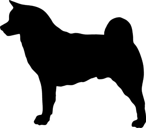 Akita Inu - Hundeaufkleber - Farbe und Umrandung oder Text wählbar - Dog Sticker (Akita Inu Hund)