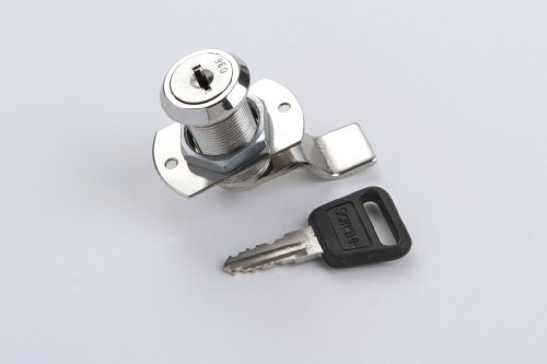 1 Schrankschloss Möbelschloss Zylinderschloss Metall vernickelt 19mm mit Schlüssel