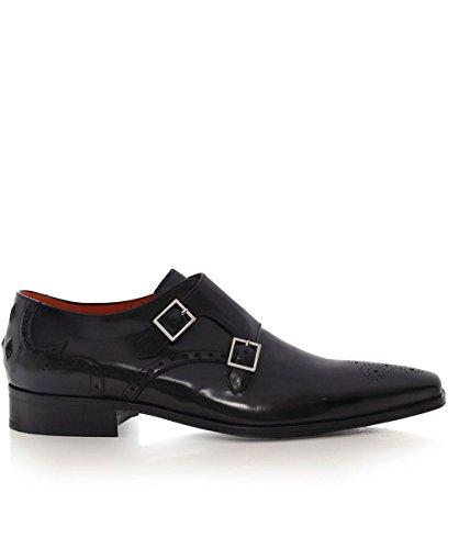 Jeffery-West Hommes chaussures de cuir poli yardbird Noir Noir