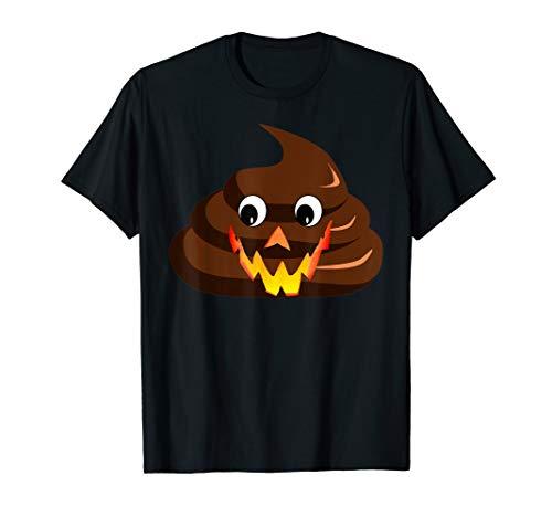 Lustiges sarkastisches Poop Emoji Halloween Kostüm T-Shirt