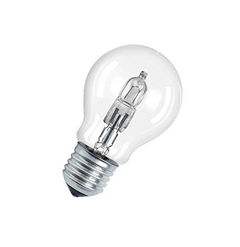 Osram Halogen-Lampe, Classic A, E27-Sockel, Dimmbar, 77 Watt - Ersatz für 100 Watt, Warmweiß - 2800K, 5er-Pack