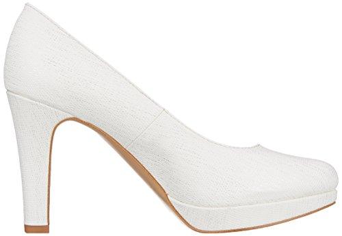 s.Oliver 22410, Scarpe con Tacco Donna Bianco (White Struct.)