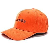 MJY Gorra de béisbol, Sombrero de Hip Hop, Gorra de Lazo Bordada de Pana Negra,C,Sombrero