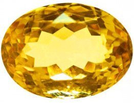 Original Citrine/ Sunela 5.00-6.00 Carat Natural & GJSPC Certified Astrological Gemstone By Saubhagya Global