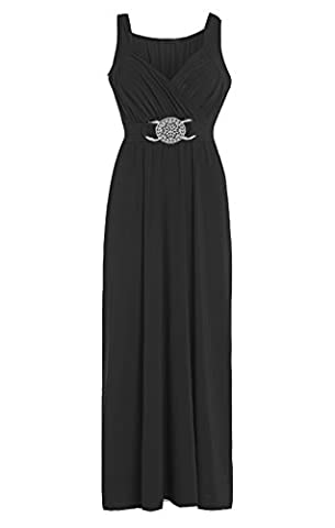 Fashion Valley Formal Bridesmaid Gown Ball Party Cocktail Evening Prom Long Buckle Maxi Dress UK M/L 12-14
