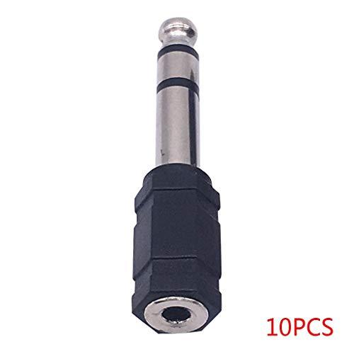 Lorsoul 10PCS 6.5 3.5 Dual estéreo 6 35 mm Adaptador