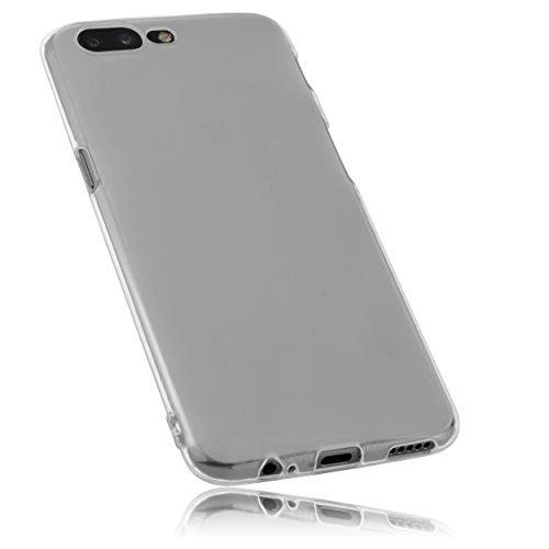 mumbi Schutzhülle für OnePlus 5 Hülle transparent weiss
