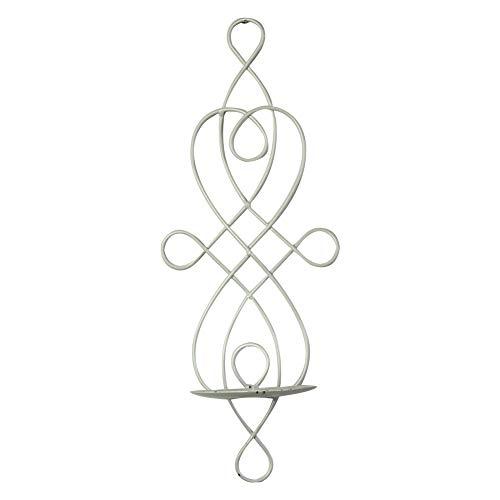Demarkt Wandkerzenhalter Wandleuchter Kerzenhalter aus Metall Kerzenleuchter Dekoration Sets - Antik-Stil Wanddekoration Wandbeleuchtung Kerzenständer (Weiß)