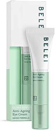 Marchio Amazon - Belei, Crema contorno occhi anti-age, per pelle ultra sensibile, 15 ml