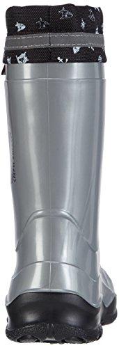 Captn Sharky 130070, Bottes en caoutchouc de hauteur moyenne, doublure froide garçon Grau (Anthrazit/Schwarz)