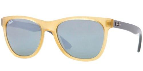 Ray-Ban RAYBAN Unisex-Erwachsene 0RB HIGHSTREET 604340 54 Sonnenbrille, Gelb (Opal Yellow/Grey Mirror Silver)